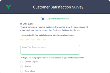 Multi Question Customer Satisfaction surveys